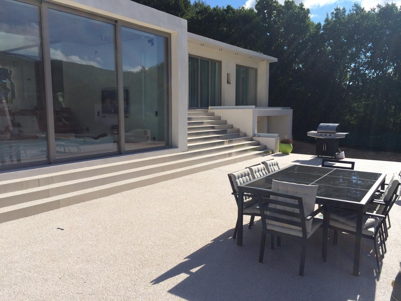 Terrasse marbre résine drainant